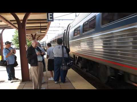 P1014304   eastbound Amtrak train at New London, CT station 061414