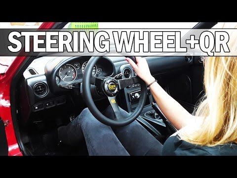 MX5 NA Miata - How to install a deep dish steering wheel with quick release