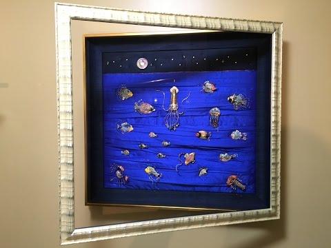 "Custom Made ""Under The Sea"" Jewelry Display Box"