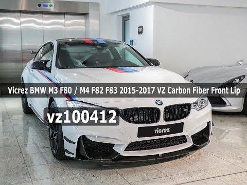 Vicrez BMW M3 F80/ M4 F82 F83 2014-2017 VZ Carbon Fiber Front Lip vz100412