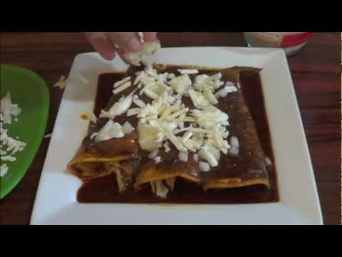 Chicken enchilada recipe - how to make them.