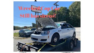Wrecked Police Car Rebuild Part 1 (2013 Chevy Caprice)