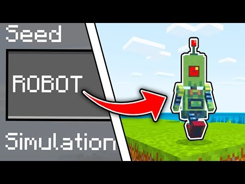 Minecraft : This SEED SPAWNED A ROBOT! (Ps3/Xbox360/PS4/XboxOne/PE/MCPE)