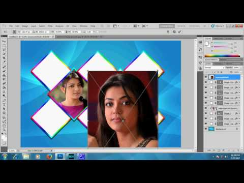 4 Sided Polygon Photo Collage in Photoshop  cs5