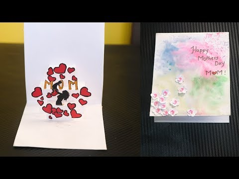 MOTHERS DAY POP-UP HEART CARD   DIY POP UP CARD  