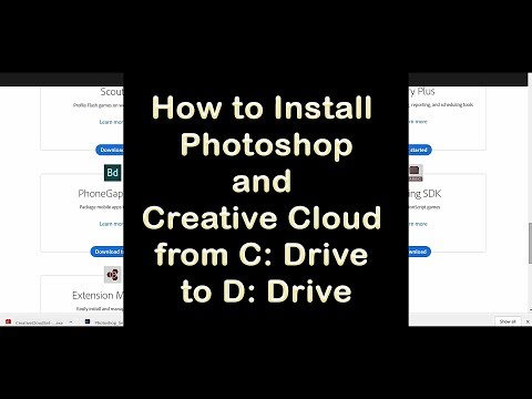 How to Install Photoshop and Creative Cloud App From C Drive to D Drive