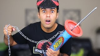 MOST DANGEROUS NERF MOD OF ALL TIME!! (EXTREME NERF GUN GIANT EDITION!!) *INSANELY DANGEROUS*