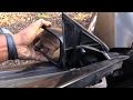 How to fix Broken Car/Truck side view Mirror. Easy