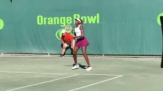 Clervie Ngounoue 16s Orange Bowl final
