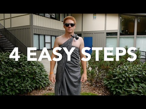 How to Tie a Toga | 4 EASY STEPS