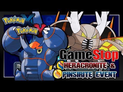 Pokémon X & Y - GameStop Heracronite & Pinsirite Serial Code Event