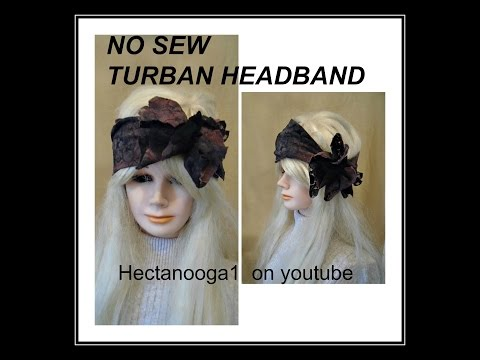 diy, NO SEW TURBAN STYLE HEADBAND, recycle, repurpose, upcycle,  sewing for beginners