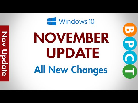 Windows 10 November Update - All New Features (Fall Update)