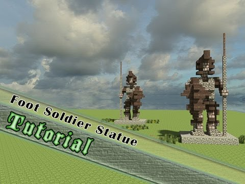 Minecraft Statue Tutorial: How To Build A Medieval Spearman!