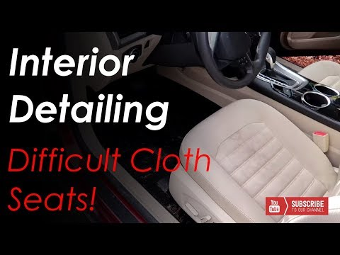 Complete Interior Cloth Seat Cleaning -- Ford Fusion