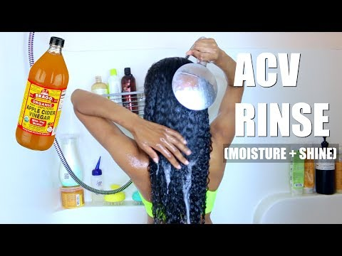 Apple Cider Vinegar Rinse On Natural Hair (Shine + Moisture) ALL HAIR TYPES
