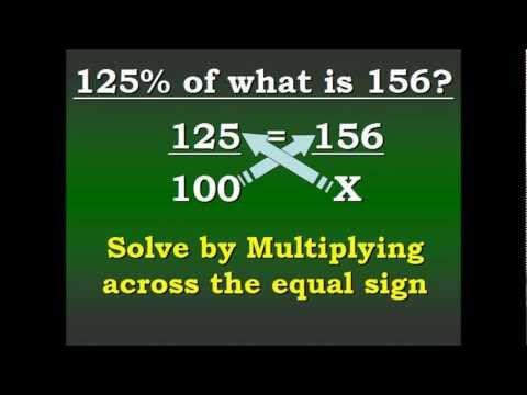 Equations and Percents (Working with percentages over 100%) Video 5 of 5