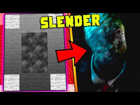 HOW TO MAKE A PORTAL TO THE SLENDER MAN DIMENSION - MINECRAFT SLENDER