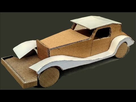 how to make a cardboard car for kids