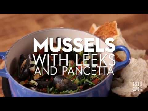 Mussels with Leeks and Pancetta | Fast & Fresh | Better Homes & Gardens