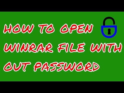 How to open WinRAR File without Password.