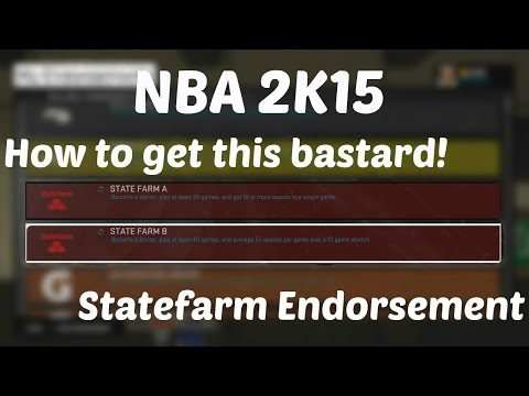 NBA 2K15 - How to get the Statefarm Endorsement (Related with Sprint)