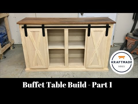 Buffet Table Build Part 1 - The Base Cabinet - Kraftmade
