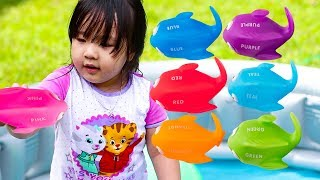 Learn Colors for Kids Children Toddlers  Nursery Rhymes Fun Swimming Play