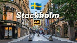🇸🇪 STOCKHOLM Life / SWEDEN Walking Tour ,  4K part 1