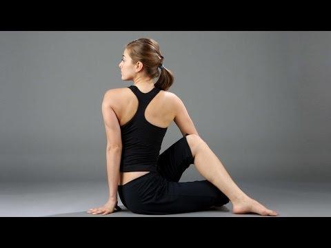 Ardh Matsyendrasana - Seated Twist Pose, Yoga Exercise for Health - English