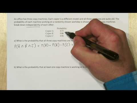 Probability Example: Addition Rule, Complement, & Multiplication Rule