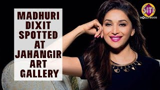 MADHURI DIXIT SPOTTED  AT JAHANGIR ART GALLERY