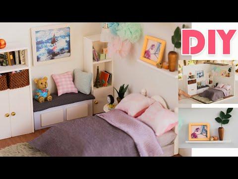 DIY Dollhouse Kit -  Girl Pom poms Bedroom