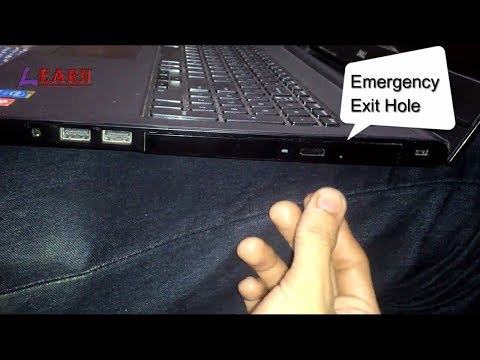 How to Manually Eject a Stuck CD/DVD Drive from Laptop