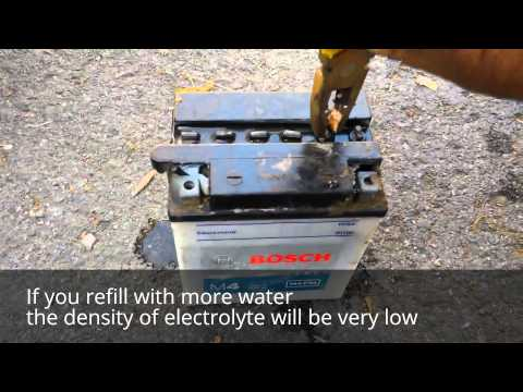 How to refill battery with distilled water