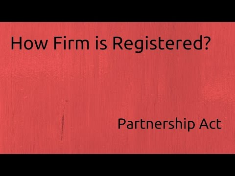 How a Firm is Registered | Indian Partnership Act 1932 | CA CPT | CS & CMA Foundation