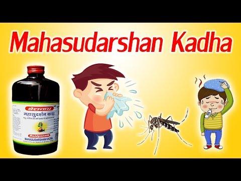 Mahasudarshan Kadha - पुराने बुखार, जुकाम, खांसी और फ्लू जैसी समस्याओं के लिए आयुर्वेदिक दवा।