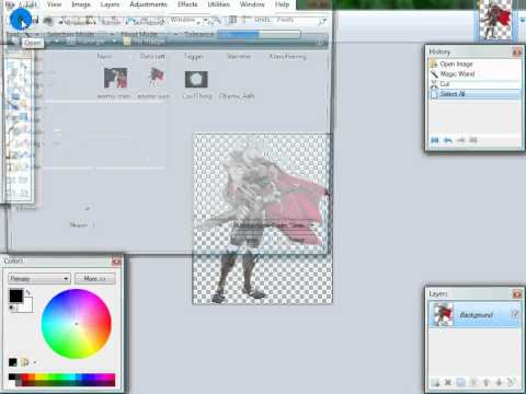 paint.NET; how to add background