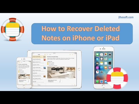How to Recover Deleted/Lost Notes on iPhone or iPad