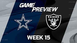 Dallas Cowboys vs. Oakland Raiders | NFL Week 15 Game Previews | MTS