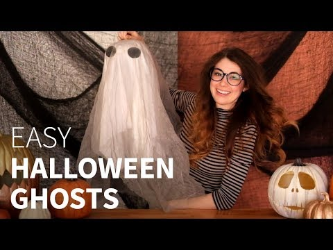 How to make outdoor hanging Ghosts | Easy & quick