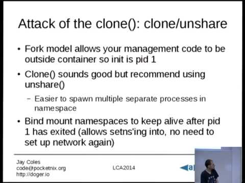 Linception: Playing with containers under linux [linux.conf.au 2014]