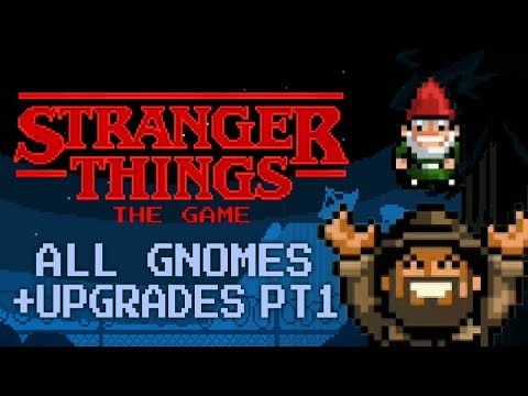 Stranger Things: The Game - All 12 Gnomes And Upgrades Part 1