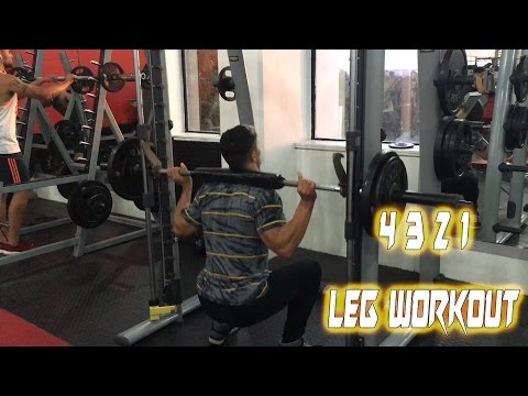 4 3 2 1 LEG WORKOUT - HOW TO GET RIPPED LEGS