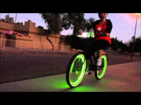 LED Bicycle Lights on a Beach Cruiser