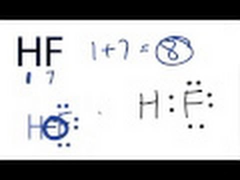 HF Lewis Structure - How to Draw the Dot Structure for HF