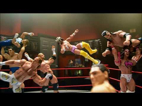 Smyths Toys - WWE Elite Authentic Scale Raw Playset with Goldberg Figure
