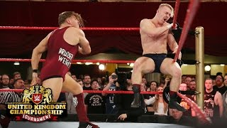 Pete Dunne attacks Tyler Bate before their Finals showdown: WWE United Kingdom Tournament