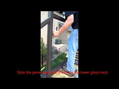 Installing Glass Panels