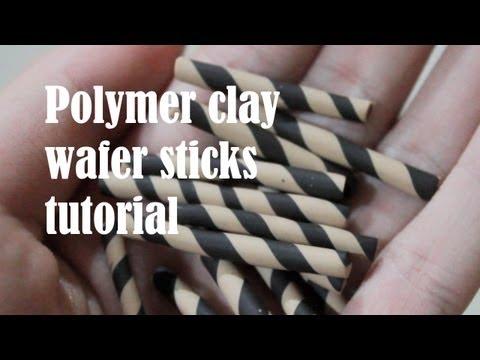 Polymer clay wafer stick tutorial